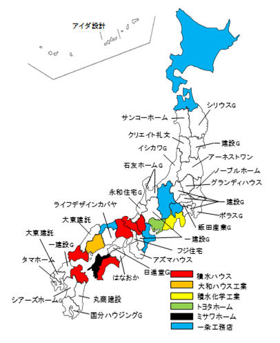 18年度都道府県別低層住宅No.1マップ