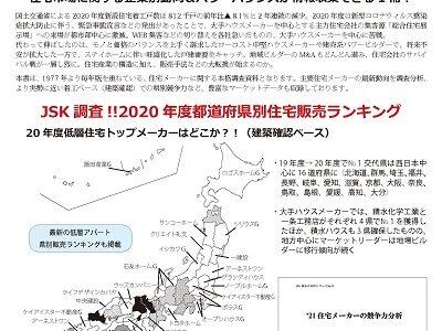 '21住宅メーカーの競争力分析【8/25発刊】