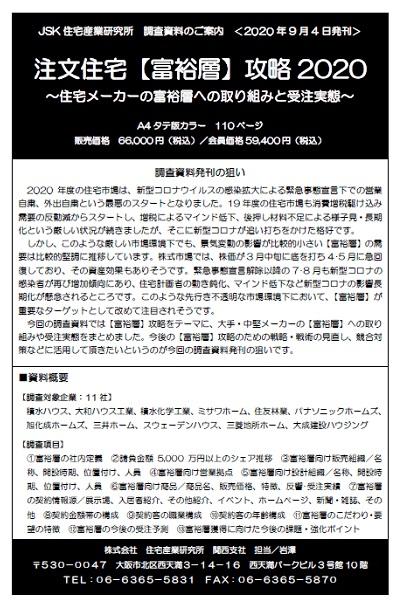 注文住宅【富裕層】攻略2020