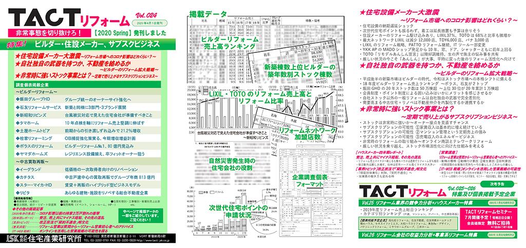 季刊TACTリフォーム―2020年春号